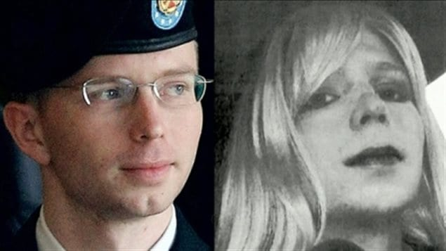 Chelsea Manning, also shown in an earlier part of her life as Bradley Manning, says she has been barred from Canada.