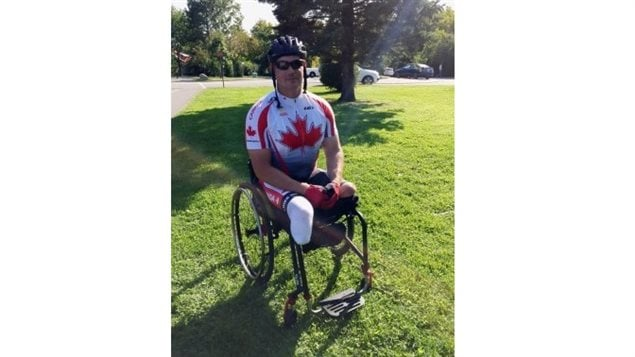Mike Trauner, 20 year veteran in the Canadian forces, survived two separate but lost his legs from a mine or IED in Afghanistan, His story is in the links below