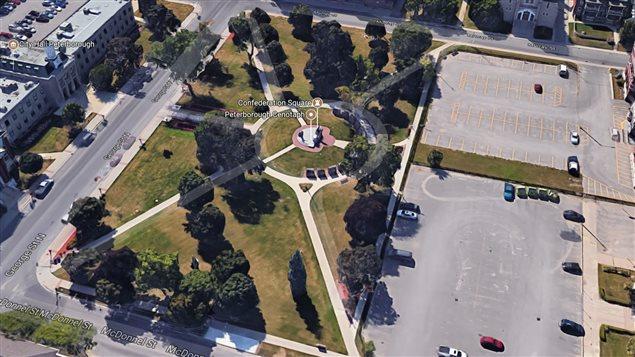 Confederation Square in Peterborough, Ontario.