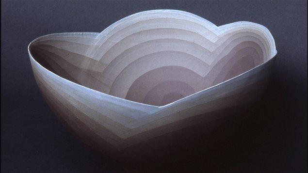 Steven Heinemann-*untitled bowl* cast porcelain, 31x17 cm :Museum of Fine Arts Boston