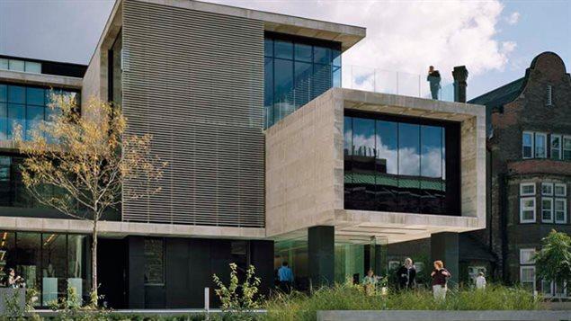 The prestigious Gardiner Museum in downtown Toronto