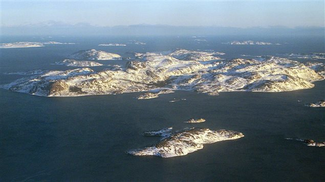 An aerial view of the North Coast of Labrador between Nain and Natuashish, N.L. on Wednesday, Dec. 5, 2007.