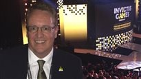 Steve Wallace, Chief Marketing Officer celebrates at the closing Ceremonies of the Invictus Games Toronto 2017
