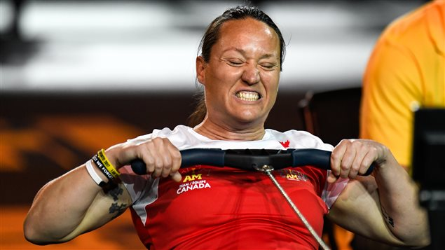 Retired Master Corporal, and Team Canada co-captain Natacha Dupuis shows her determination making 4 trips to the podium in 2 days with medals in athletics and indoor rowing