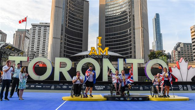 Wheelchair Tennis medals Nathan Phillips Square at Toronto City Hall was the site where thousands of spectators gathered over 3 days to cheer on Wheelchair tennis competitions