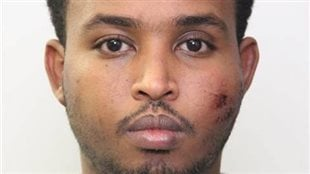 Abdulahi Hasan Sharif is shown in an Edmonton Police Service handout photo. He has been charged in an attack that saw an Edmonton officer stabbed and four people injured when they were hit by a rental truck fleeing police.