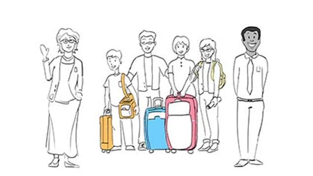 Image représentant l'arrivée des nouveaux immigrants au Canada