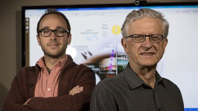 The study authored by Ben Pearce, left, and Ralph Pudritz, suggests there were enough meteorites carrying the raw ingredients for RNA splashing into enough ponds in the early Earth to produce ample opportunities for RNA to form.