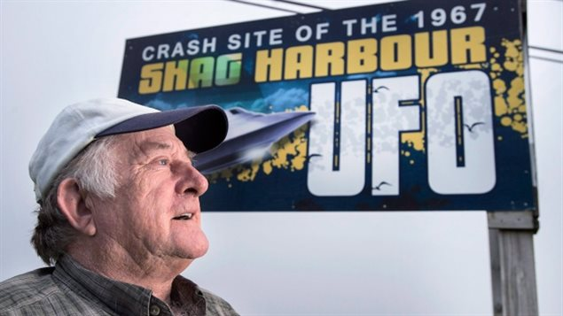 Laurie Wickens, president of the Shag Harbour Incident Society, shown in Shag Harbour, N.S. on Saturday, Sept. 16, 2017. On the night of October 4, 1967, Wickens and four of his friends spotted a large object descending into the waters off the harbour. The object was never officially identified, and was therefore referred to as an unidentified flying object. The 50th anniversary of the event is being marked with a three-day festival