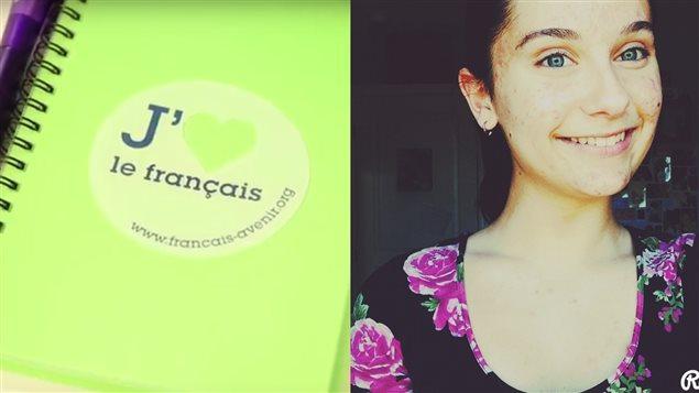 Daphnée Auclair et le logo de l'organisme Français pour l'avenir