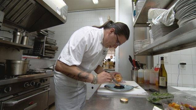 Shawana, shown preparing seal tartare in his restaurant kitchen, said he had anticipated that serving the meat could cause a stir.