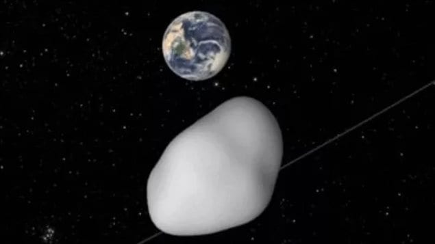 Artist concept of 2012 TC4 a 15-20 metre potato-shaped rock that came close to Earth today (Thurs. Oct 12)