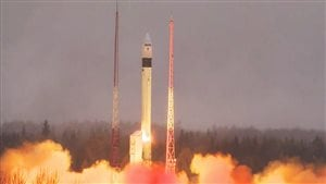 The atmosphere-monitoring satellite for Europe's Copernicus programme, Sentinel-5P, lifted off on a Rockot from the Plesetsk Cosmodrome in northern Russia at 09:27 GMT (11:27 CEST) on 13 October 2017. (Stephane Corvaja/ESA)