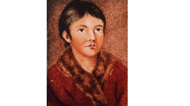 Mary March, also known by her Indigenous name as Demasduit, one of the last Beothuk, is shown in this painting by Lady Hamilton. She died in 1820 at age approx 24 of consumption. after spending a few months among the Europeans.