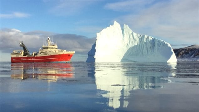 Climate change means once permanently ice-covered seas are now becoming accesible to ships, including potential commerical factory trawlers.