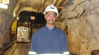 Professor Ray Jayawardhana (PhD) at the Sanford Underground Research Facility in Lead, South Dakota, where the far detector for DUNE will be located, more than one kilometer underground.