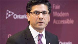 Le procureur général de l'Ontario, Yasir Naqvi Photo : La Presse canadienne/Frank Gunn