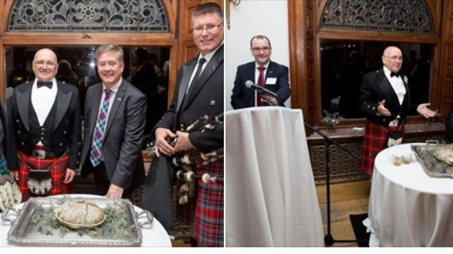 The new *Canadian export recipe haggis* was unvelled at a special event in Toronto this week