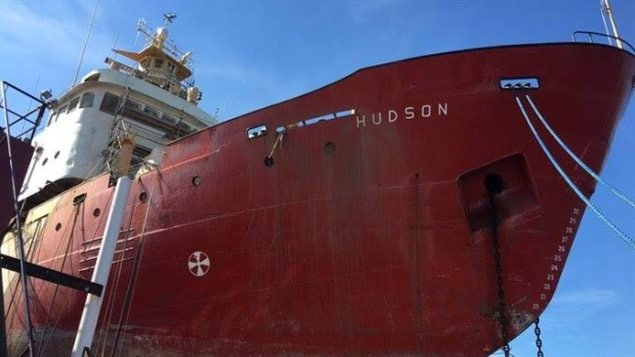 CCGS HUDSON. the oceanagraphic vessel was undergoing a $4 million refit, but has been towed to a new shipyard after long delays at the original yard.