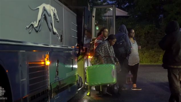 Nigerians who flew to New York City, take a bus to Plattsburg New York, then a tax to the well-known crossing point on the undefended border into Canadai where they make asylum claims