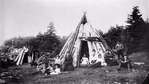 A Mi'kmaq home in Nova Scotia around 1890.