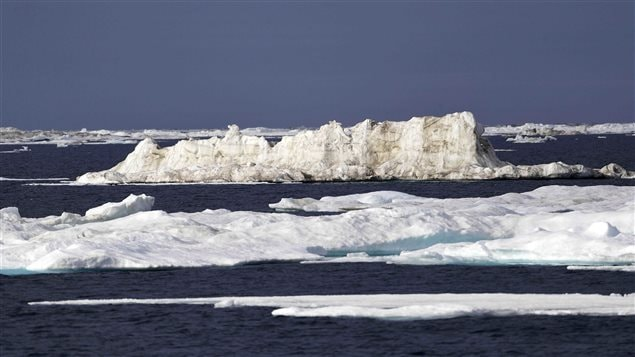 Global warming is melting sea ice and glaciers at an historic rate.
