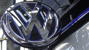 Le logo de Volkswagen.Photo Credit: Reuters/Fabian Bimmer