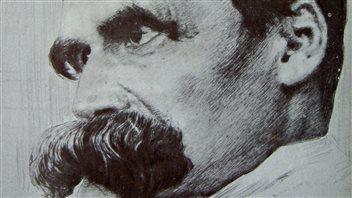 Détail d'un dessin de Nietzsche tiré du magazine Pan, édition 1899/1900 Photo : Hans Olde