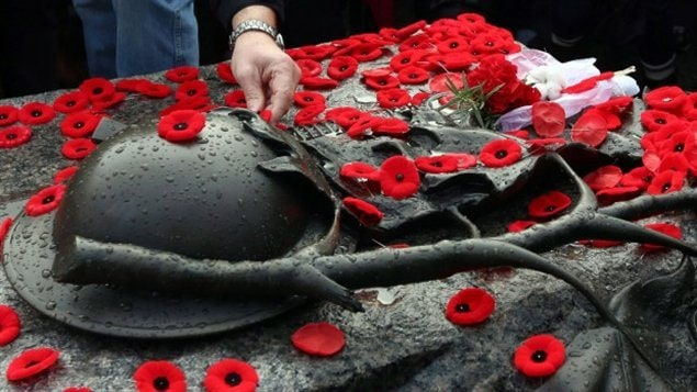 It has become tradition in recent years for Canadians to place their poppies on the Tomb of the Unknown Soldier at the National War Memorial in Ottawa following services each November 11