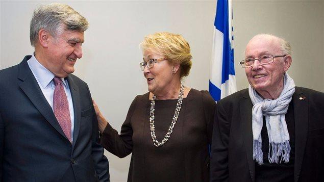Lucien Bouchard, Pauline Marois et Bernard Landry - La Presse canadienne