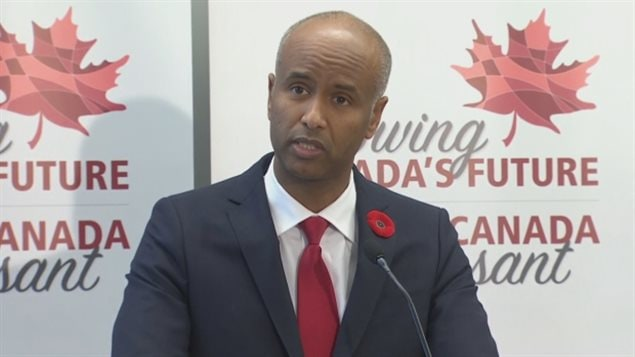 Le ministre canadien de l'Immigration, Ahmed Hussen.