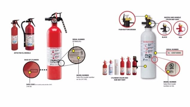 Failure of recalled fire extinguishers is linked to one death and at least 16 injuries, according to the U.S. Consumer Safety Product Safety Commission.