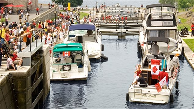 The Rideau Canal, Ottawa, a popular tourist and boating attraction, but a cenrury of use means the sediment at the bottom has become contaminated.