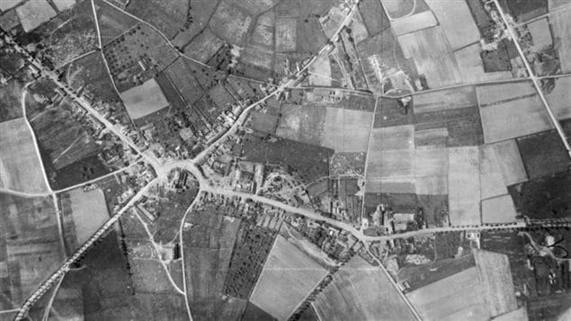 Passchendaele before, trees, farmland, homes, stores, churches. and life.