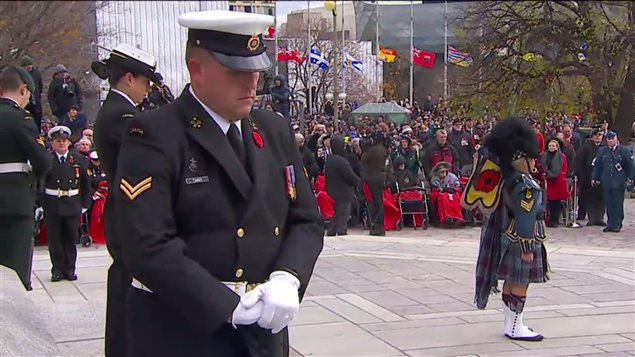 Every year on November 11th there is a Remembrance Day ceremony in the nation's capital, Ottawa and smaller ceremonies in cities and towns across Canada.