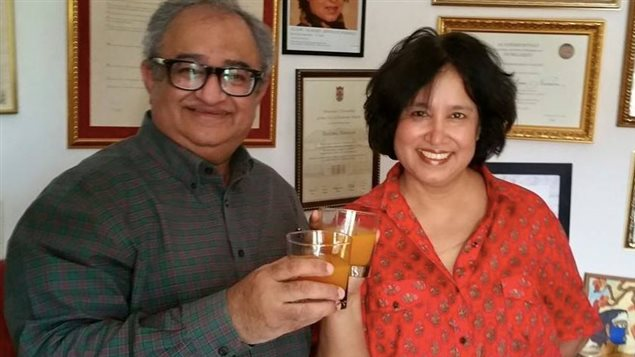 With exiled Bangladesh author Taslima Nasreen who has a death fatwa on her and lives in New Delhi after escaping from Dhaka and then later Kolkatta where Islamists tried to kill her.