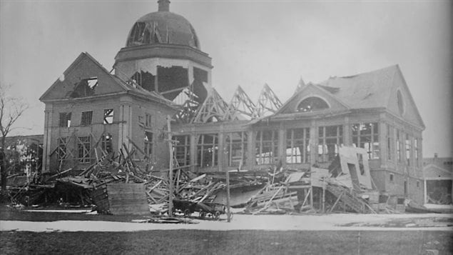 Halifax's Exhibition Building. The final body from the 1917 explosion was found here almost two years later in 1919
