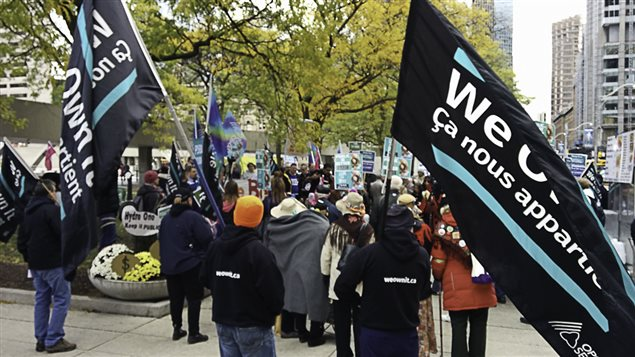 *We Own It* rally by union workers and the public concerned about the growing trend of government to sell off public services.