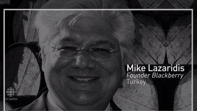 加拿大原黑莓公司的创始人 Lazaridis 是海外移民