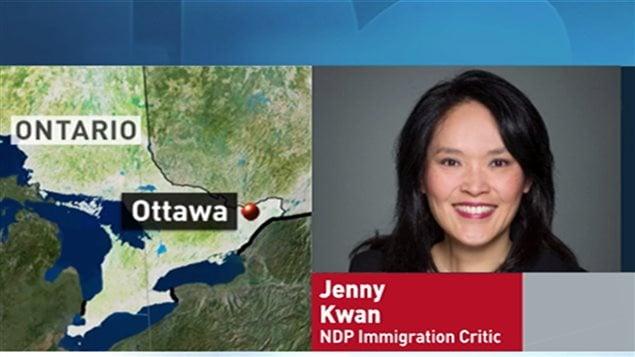 新民主党移民和难民事务发言人Jenny Kwan