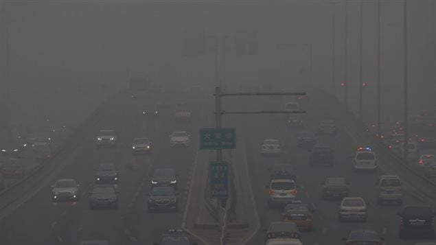 Contaminación ambiental en Beijing, China
