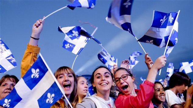 Celebración de la fiesta de San Juan en la provincia de Quebec.
