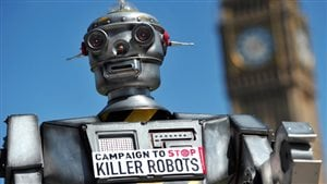 There is an international coalition campaigning to ban fully autonomous weapons