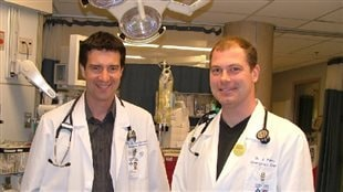 (L-R) DR Christian Vaillancourt, and Dr Jeffrey Perry, co-authors on the research to create the new cerbral aneurysm early screening protocol.
