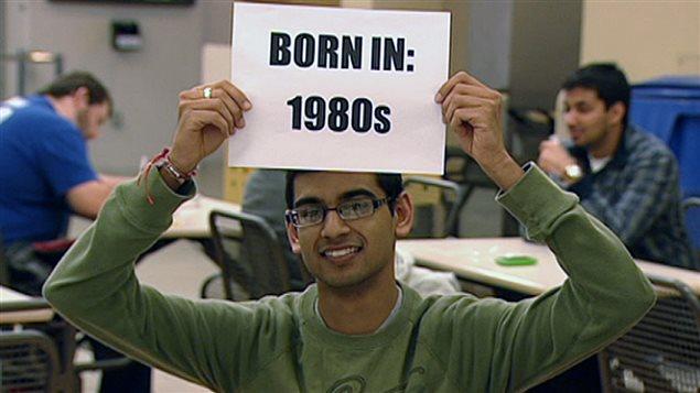 Un joven canadiense miembro de la Generación del milenio