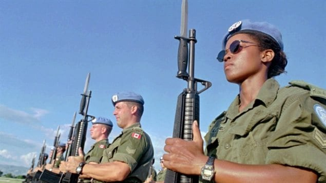 Canadian Peacekeepers, Haiti 1997: Canada is expected to announce its commitment to U.N.peacekeeping on Wednesday.