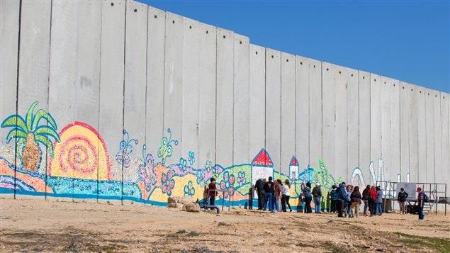 Le mur qui divise l'Israel de la Bande de Gaza