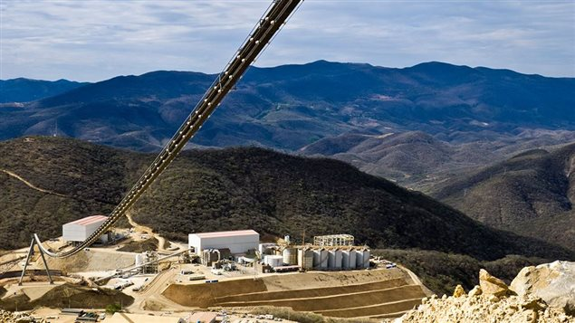 View of the Canadian-operated Media Luna mine in Mexico's Guerrero state. United Steelworkers union alleges two striking mine workers were killed near the mine in conflict over labour rights.