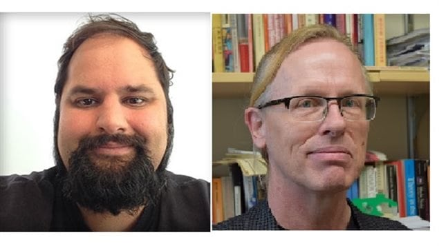 Left Nathan Rambukkana, and (right) Herbert Pimlott, were WLU professors who reprimanded teaching assistant Lindsay Shepherd. Rambukkana has since apologized publicly.
