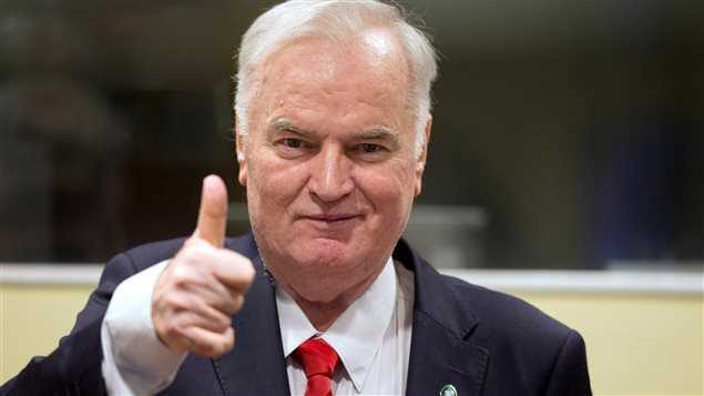 Ex-Bosnian Serb wartime general Ratko Mladic appears in court at the International Criminal Tribunal for the former Yugoslavia (ICTY) in the Hague, Netherlands November 22, 2017.